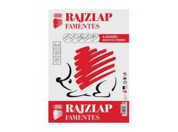 Rajzlap, famentes, A4, 120 g/m2, ICO Süni (TICRLFMA4)