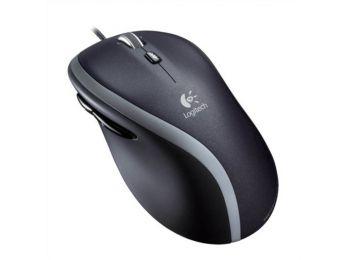 Egér, vezetékes, lézeres, normál méret, USB, LOGITECH M500, fekete (LGEM500)