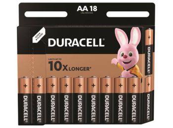 Elem, AA ceruza, 18 db, DURACELL Basic (DUELAA18)