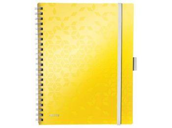 Spirálfüzet, A4, vonalas, 80 lap, LEITZ Wow Active, sárga