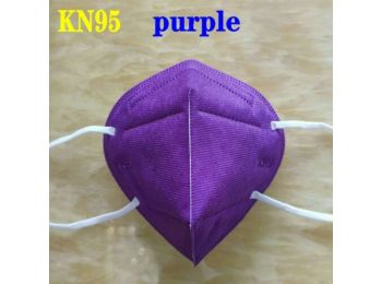 KN95 FFP2 maszk szájmaszk színes - lila (egyesével csomag