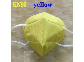 KN95 FFP2 maszk szájmaszk színes - sárga (egyesével csom