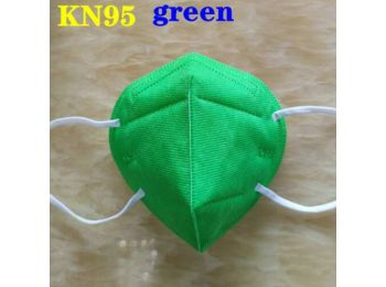 KN95 FFP2 maszk szájmaszk színes - zöld (egyesével csoma