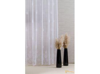 ( 2 méret) Virágmintás szép fehér Jaquard függöny BK1001 01 280 cm