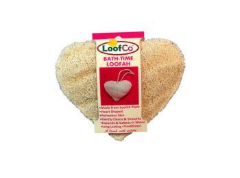 Loofco szív alakú luffa szivacs fürdéshez 1db