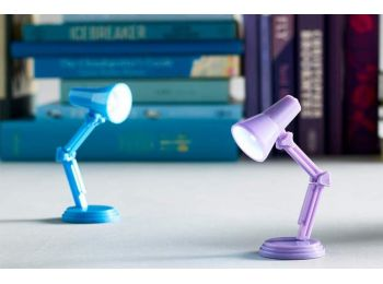 Mini asztali és könyvre csíptethető olvasólámpa (Szür