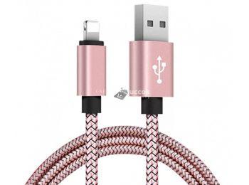 Lightning Iphone gyorstöltő adatkábel - Rose Gold