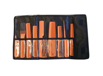 Eurostil 9 db-os fésűszett, narancssárga