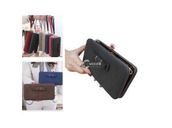 (Több színben) Női pénztárca - Fekete