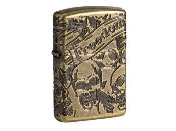 Zippo Öngyújtó, Armor® Freedom Skull Anti