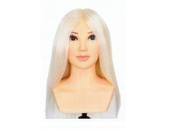 Calcagni OMC vállas verseny fehér hajú babafej humán haj