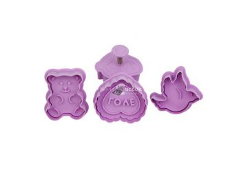 Szív, maci, galamb és eper Mézeskalács forma