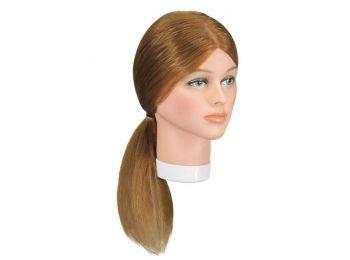 Eurostil szőke babafej humán hajjal, 30-40 cm