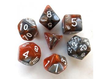 Dobókocka szett - márványos barna/szürke (7 darabos)
