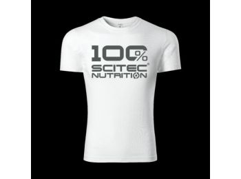 100% Scitec Nutrition póló férfi fehér S