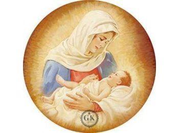 Szűz Mária gyermekével tortaostya
