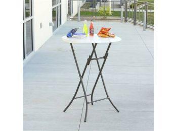 Összehajtható kerek bisztró asztal