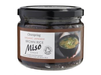 Clearspring bio miso barnarizsből üveges 300g
