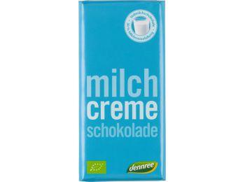 Dennree bio tejcsokoládé tejkrémmel 100g