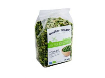 Greenmark bio zöldborsó felezett 500g