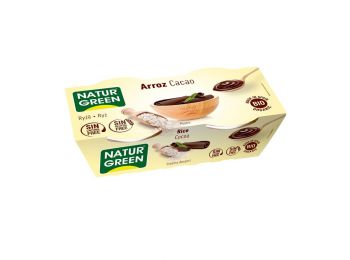Naturgreen bio rizs desszert csokoládés 2X125g