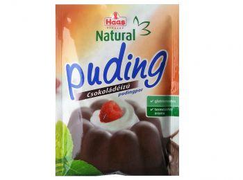 Haas puding csokoládé natural 44g