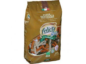 Felicia bio rizs fusilli trikolor gluténmentes tészta 500g