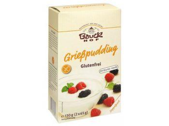 Bauckhof bio gluténmentes grízpuding 130g
