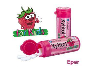 Xylitol rágógumi kids eper 30db