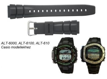 ALT-6000 ALT-6100 ALT-610 Casio fekete műanyag szíj