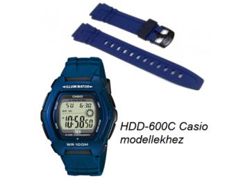 HDD-600C Casio kék műanyag szíj