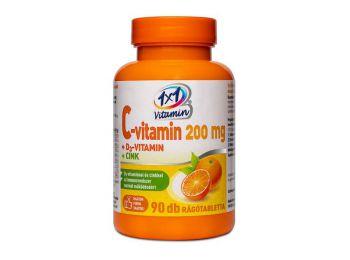 1x1 c-vitamin 200 mg+d3-vitamin+cink rágótabletta 90db