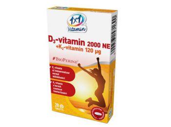 1x1 d3-vitamin + k2  bioperinnel 28db