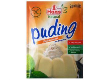 Haas pudingpor tejszín natural 40g