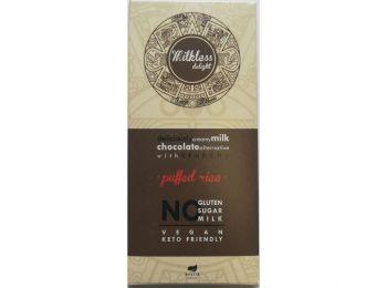 Egészség market csoki milkless puffasztott rizs 80g