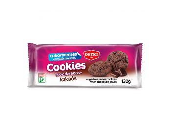 Detki cukormentes cookies kakaós keksz 130g