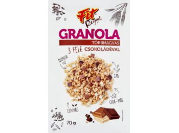 Fit reggeli granola 3 féle csokival 70g