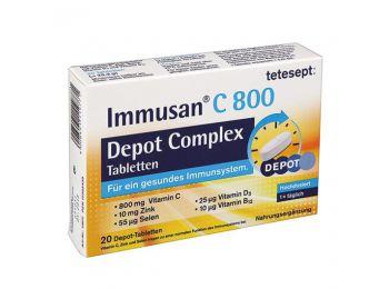 Tetesept immusan c800 depot complex tabletta 20db