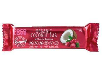 Biopont bio coco love kókusz-vörösáfonya szelet 30g
