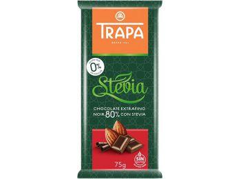 Trapa steviás étcsokoládé 80% kakaótartalom 75g
