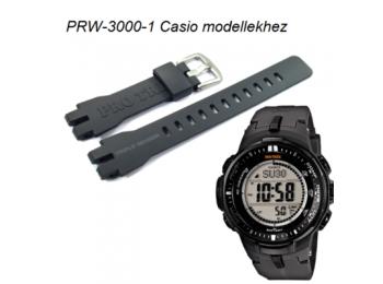 PRW-3000-1 Casio fekete műanyag szíj