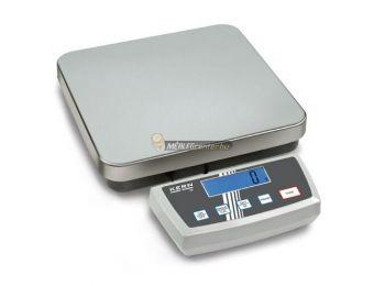 KERN DE 120K10A (120kg/10g) IP65 platform- csomagmérleg kisállatmérő, darabszámláló, százalékszámító funkc. 2évG