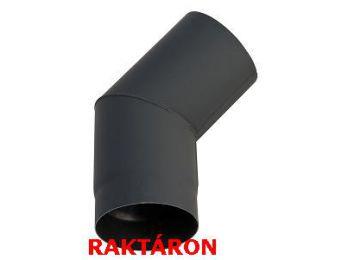 Vastagfalú füstcső könyök 160 mm átm./45°