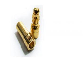 Aranyozott csatlakozópár (4,0 mm)