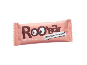 Roobar bio gyümölcsszelet fehér eper-vanília 30g