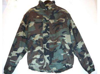 Terep mintás bélelt kabát (Zöld XXL)
