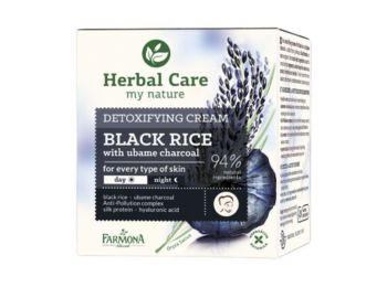 Farmona Herbal Care fekete rizs méregtelenítő hatású arckrém Japán ubame faszénnel, 50 ml