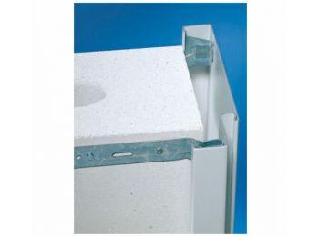 Novoferm kőműves acél válaszfaltok fehér alapozott porszórt 130-as falvastagság  1000x2000 mm