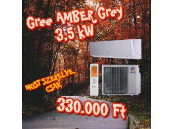 GREE AMBER GREY 3,5 kW KLÍMA SZETT + 3m szereléssel