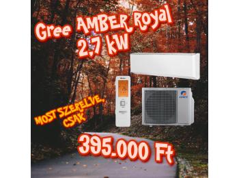GREE AMBER ROYAL 2,7 kW KLÍMA SZETT + 3m szereléssel